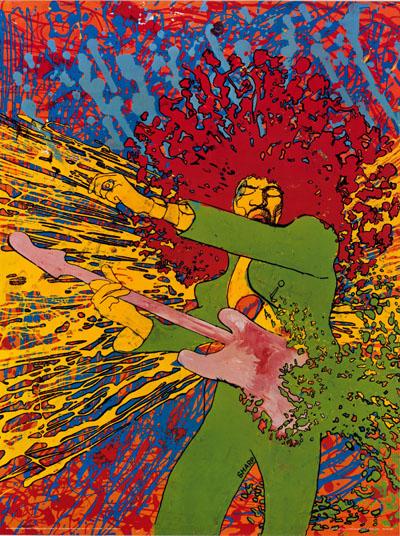 Martin Sharp - Hendrix Explosion - Big O Posters